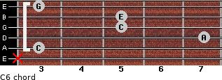 C6/ for guitar on frets x, 3, 7, 5, 5, 3