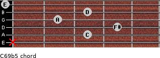 C6/9b5 for guitar on frets x, 3, 4, 2, 3, 0