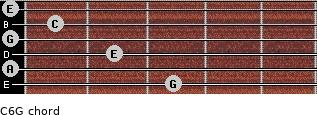C6\G for guitar on frets 3, 0, 2, 0, 1, 0