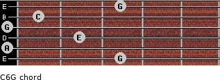 C6\G for guitar on frets 3, 0, 2, 0, 1, 3