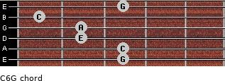 C6\G for guitar on frets 3, 3, 2, 2, 1, 3