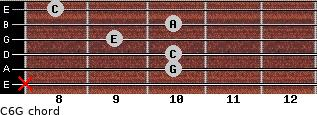 C6\G for guitar on frets x, 10, 10, 9, 10, 8