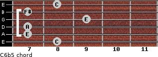 C6b5 for guitar on frets 8, 7, 7, 9, 7, 8