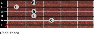 C6b5 for guitar on frets x, 3, 2, 2, 1, 2