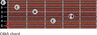 C6b5 for guitar on frets x, 3, 4, 2, 1, 0