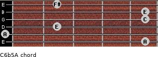 C6b5/A for guitar on frets 5, 0, 2, 5, 5, 2