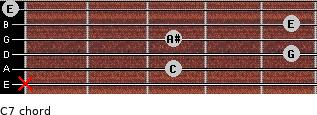 C7 for guitar on frets x, 3, 5, 3, 5, 0