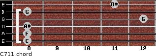 C-7/11 for guitar on frets 8, 8, 8, 12, 8, 11