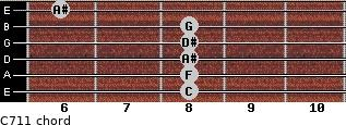 C-7/11 for guitar on frets 8, 8, 8, 8, 8, 6
