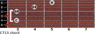 C-7/13 for guitar on frets x, 3, x, 3, 4, 5