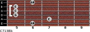 C7\13\Bb for guitar on frets 6, 7, 5, 5, 5, 6