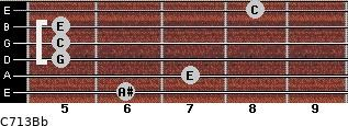 C7\13\Bb for guitar on frets 6, 7, 5, 5, 5, 8