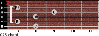 C7(-5) for guitar on frets 8, 7, 8, 9, 7, x