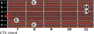 C7(-5) for guitar on frets 8, 7, x, 11, 11, 8