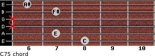 C7(-5) for guitar on frets 8, 7, x, x, 7, 6