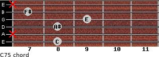 C7(-5) for guitar on frets 8, x, 8, 9, 7, x