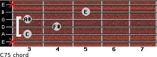 C7(-5) for guitar on frets x, 3, 4, 3, 5, x