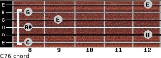 C7/6 for guitar on frets 8, 12, 8, 9, 8, 12