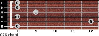 C7/6 for guitar on frets 8, 12, 8, 9, 8, 8