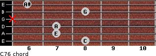 C7/6 for guitar on frets 8, 7, 7, x, 8, 6