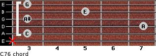 C7/6 for guitar on frets x, 3, 7, 3, 5, 3