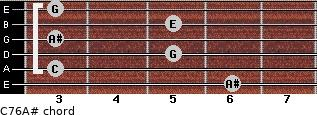 C7\6\A# for guitar on frets 6, 3, 5, 3, 5, 3