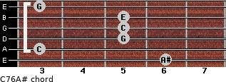 C7\6\A# for guitar on frets 6, 3, 5, 5, 5, 3