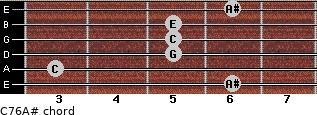C7\6\A# for guitar on frets 6, 3, 5, 5, 5, 6