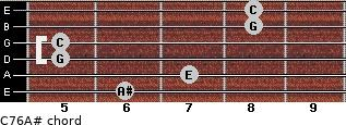 C7\6\A# for guitar on frets 6, 7, 5, 5, 8, 8