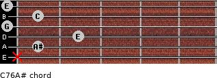 C7\6\A# for guitar on frets x, 1, 2, 0, 1, 0