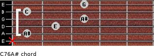 C7\6\A# for guitar on frets x, 1, 2, 3, 1, 3