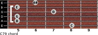 C7/9 for guitar on frets 8, 5, 5, 7, 5, 6