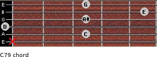 C7/9 for guitar on frets x, 3, 0, 3, 5, 3