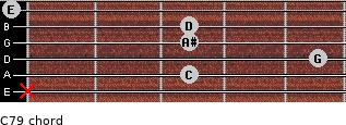 C7/9 for guitar on frets x, 3, 5, 3, 3, 0