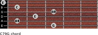 C7\9\G for guitar on frets 3, 1, 2, 3, 1, 0