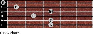 C7\9\G for guitar on frets 3, 3, 2, 3, 1, 0