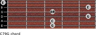 C7\9\G for guitar on frets 3, 3, 5, 3, 5, 0