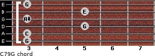 C7\9\G for guitar on frets 3, 3, 5, 3, 5, 3