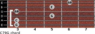 C7\9\G for guitar on frets 3, 3, 5, 3, 5, 6