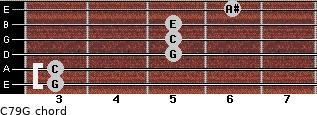 C7\9\G for guitar on frets 3, 3, 5, 5, 5, 6