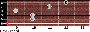 C7\9\G for guitar on frets x, 10, 10, 9, 11, 12