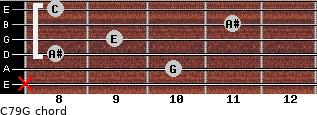 C7\9\G for guitar on frets x, 10, 8, 9, 11, 8