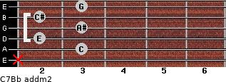 C7/Bb add(m2) guitar chord