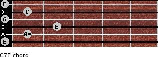 C7\E for guitar on frets 0, 1, 2, 0, 1, 0