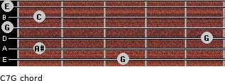 C7\G for guitar on frets 3, 1, 5, 0, 1, 0