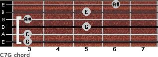 C7\G for guitar on frets 3, 3, 5, 3, 5, 6