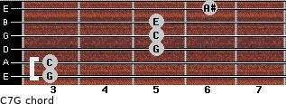 C7\G for guitar on frets 3, 3, 5, 5, 5, 6