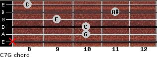 C7\G for guitar on frets x, 10, 10, 9, 11, 8