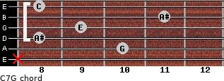 C7\G for guitar on frets x, 10, 8, 9, 11, 8
