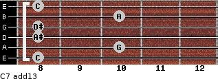 C-7(add13) for guitar on frets 8, 10, 8, 8, 10, 8
